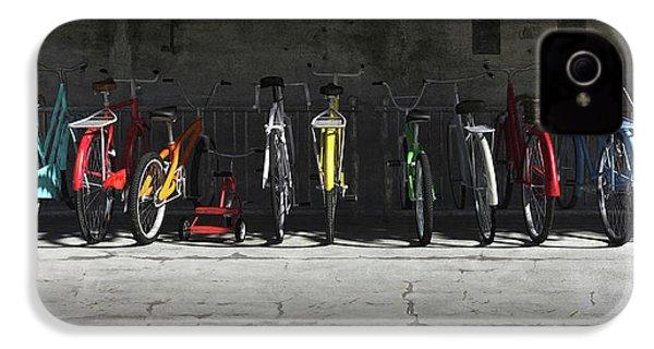 Bike Rack IPhone 4s Case by Cynthia Decker