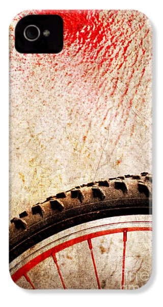 Bike Wheel Red Spray IPhone 4s Case