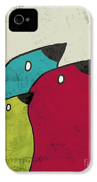 Birdies - V101s1t IPhone 4s Case by Variance Collections