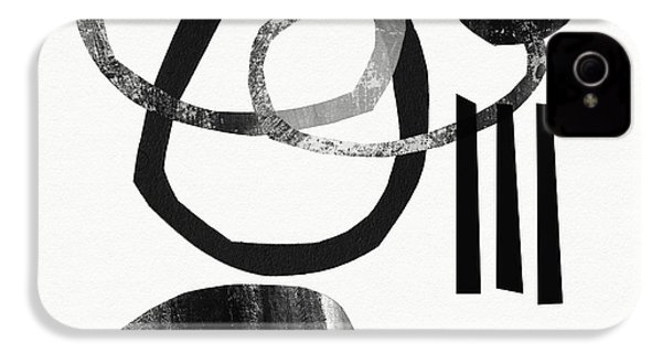 Black And White- Abstract Art IPhone 4s Case