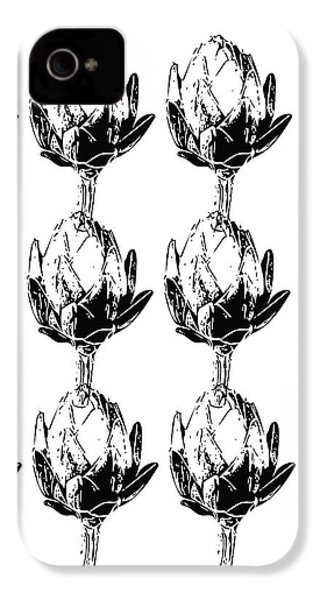 Black And White Artichokes- Art By Linda Woods IPhone 4s Case