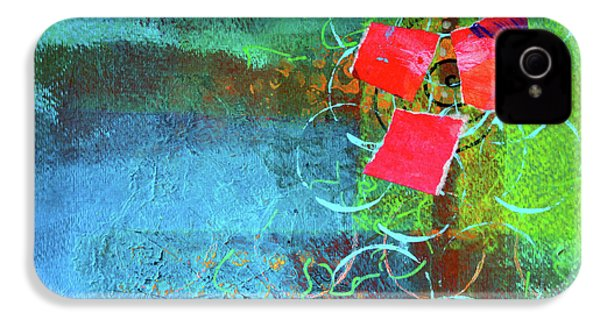 IPhone 4s Case featuring the mixed media Bloom Abstract Collage by Nancy Merkle
