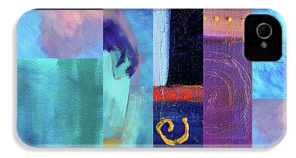 IPhone 4s Case featuring the digital art Blue Love by Nancy Merkle