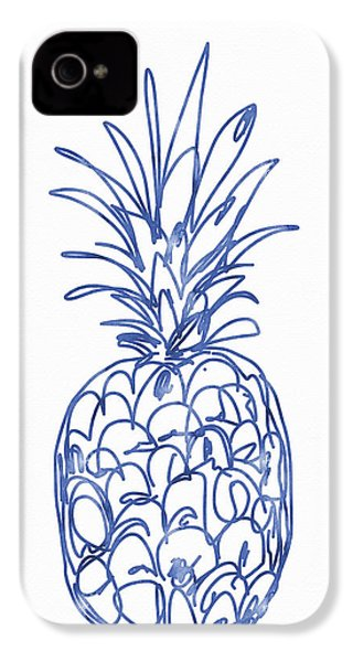 Blue Pineapple- Art By Linda Woods IPhone 4s Case
