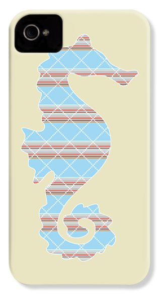 Blue Stripe Pattern Aged IPhone 4s Case by Christina Rollo