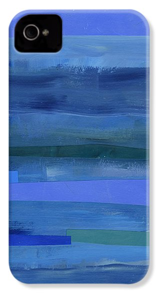Blue Stripes 1 IPhone 4s Case by Jane Davies