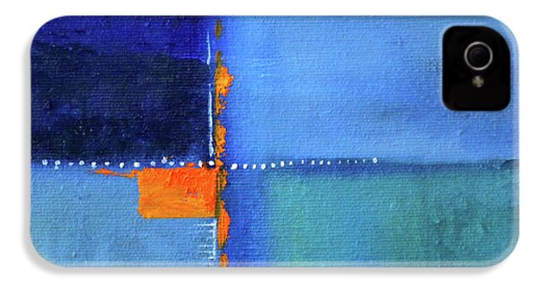 IPhone 4s Case featuring the painting Blue Window Abstract by Nancy Merkle