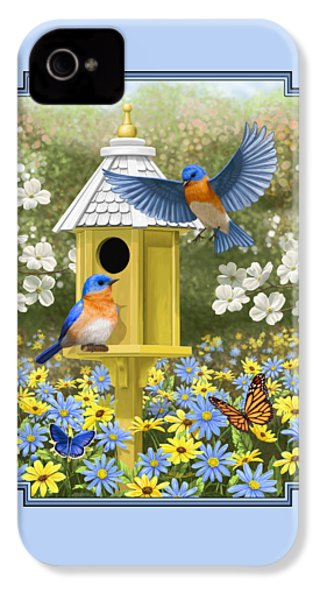 Bluebird Garden Home IPhone 4s Case by Crista Forest