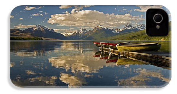 IPhone 4s Case featuring the photograph Boats At Lake Mcdonald by Gary Lengyel