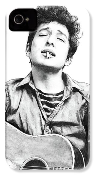 Bob Dylan Drawing Art Poster IPhone 4s Case by Kim Wang