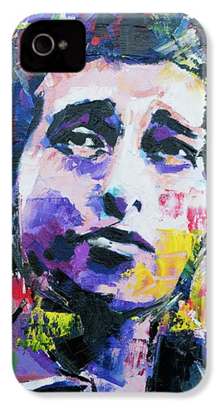 Bob Dylan Portrait IPhone 4s Case by Richard Day