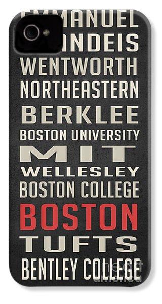 Boston Collegetown IPhone 4s Case by Edward Fielding