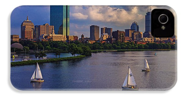Boston Skyline IPhone 4s Case by Rick Berk