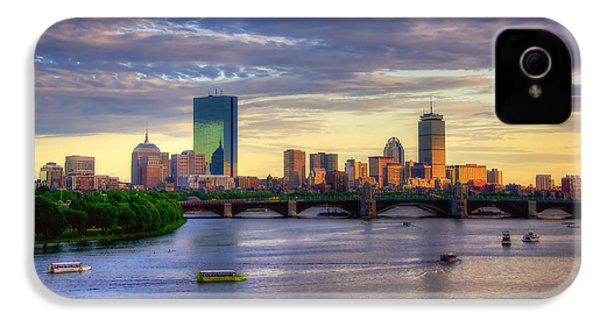 Boston Skyline Sunset Over Back Bay IPhone 4s Case by Joann Vitali