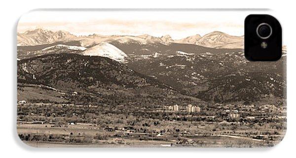 Boulder Colorado Sepia Panorama Poster Print IPhone 4s Case