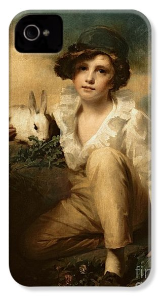 Boy And Rabbit IPhone 4s Case by Sir Henry Raeburn