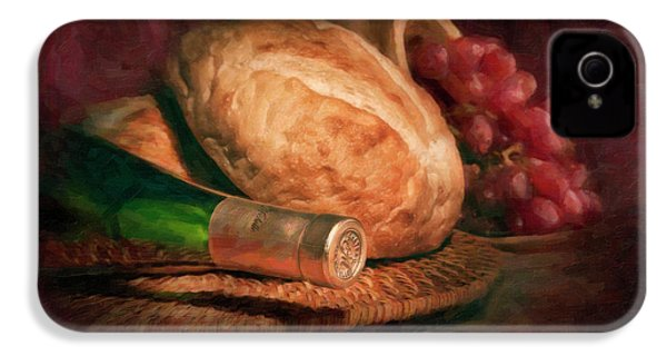 Bread And Wine IPhone 4s Case by Tom Mc Nemar