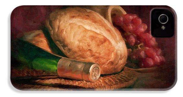 Bread And Wine IPhone 4s Case by Tom Mc Nemar