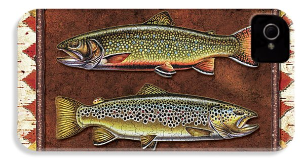 Brook And Brown Trout Lodge IPhone 4s Case by JQ Licensing