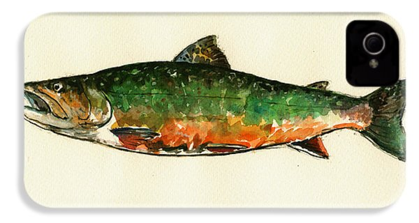Brook Trout IPhone 4s Case by Juan  Bosco