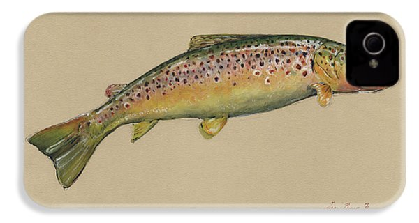 Brown Trout Jumping IPhone 4s Case by Juan Bosco