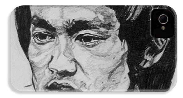Bruce Lee IPhone 4s Case by Rachel Natalie Rawlins