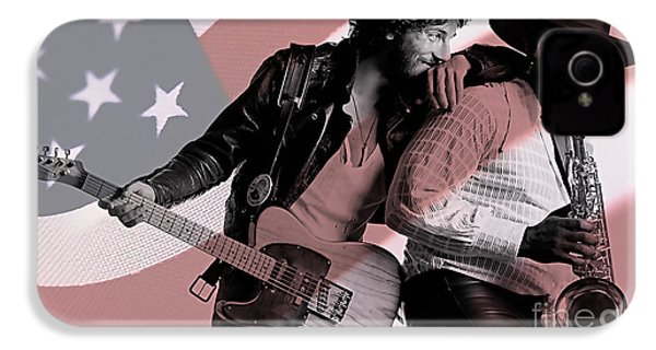 Bruce Springsteen Clarence Clemons IPhone 4s Case by Marvin Blaine