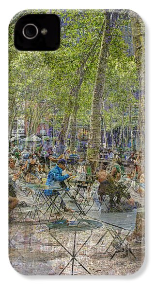 Bryant Park Collage 2 IPhone 4s Case by Dave Beckerman