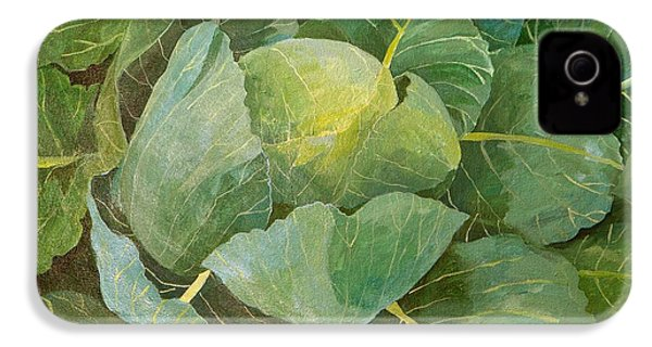Cabbage IPhone 4s Case by Jennifer Abbot