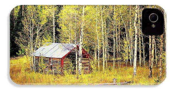 Cabin In The Golden Woods IPhone 4s Case by Karen Shackles