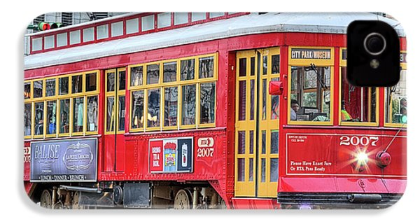 IPhone 4s Case featuring the photograph Canal Street Streetcar by JC Findley
