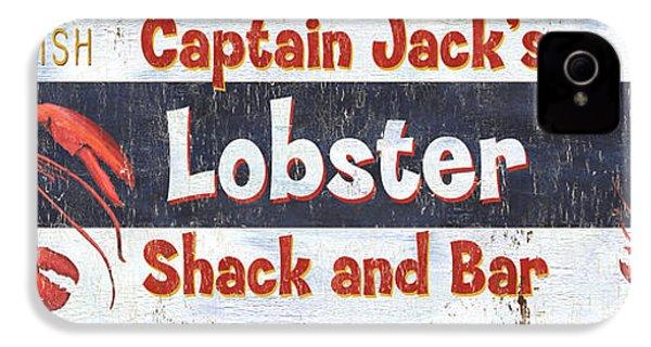 Captain Jack's Lobster Shack IPhone 4s Case by Debbie DeWitt