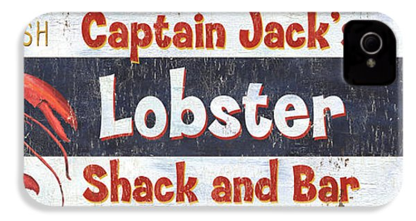 Captain Jack's Lobster Shack IPhone 4s Case by Debbie DeWitt