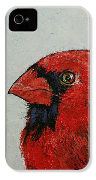 Cardinal IPhone 4s Case by Michael Creese