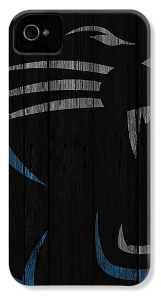 Caroilina Panthers Wood Fence IPhone 4s Case by Joe Hamilton