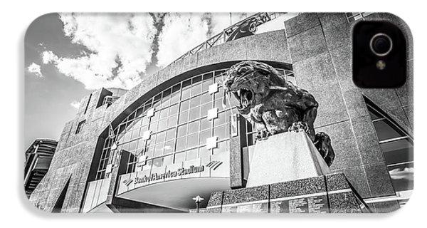 Carolina Panthers Stadium Black And White Photo IPhone 4s Case by Paul Velgos