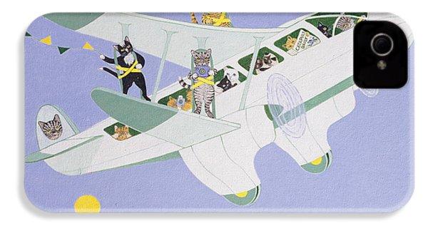 Cat Air Show IPhone 4s Case by Pat Scott