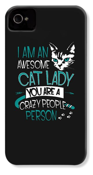 Cat Lady IPhone 4s Case by Jackie Robinson