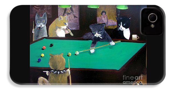 Cats Playing Pool IPhone 4s Case