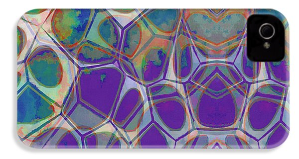 Cell Abstract 17 IPhone 4s Case by Edward Fielding