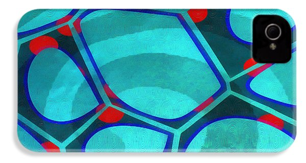 Cell Abstract 6a IPhone 4s Case by Edward Fielding