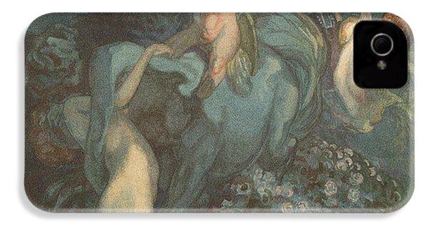 Centaur Nymphs And Cupid IPhone 4s Case by Franz von Bayros