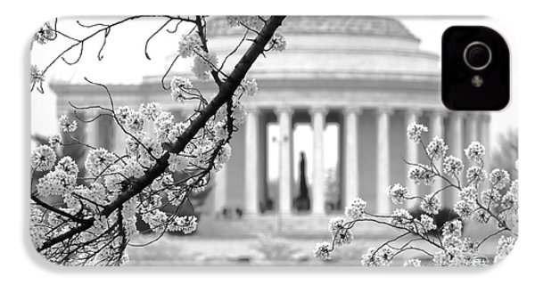 Cherry Tree And Jefferson Memorial Elegance  IPhone 4s Case