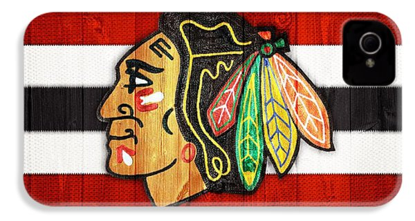 Chicago Blackhawks Barn Door IPhone 4s Case by Dan Sproul