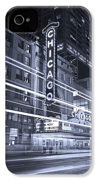 Chicago Theater Marquee B And W IPhone 4s Case by Steve Gadomski