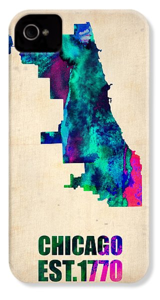 Chicago Watercolor Map IPhone 4s Case by Naxart Studio