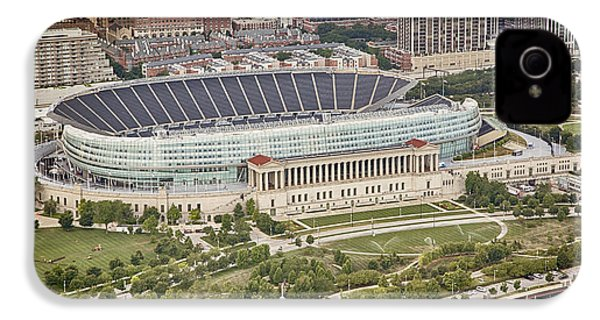 Chicago's Soldier Field Aerial IPhone 4s Case by Adam Romanowicz