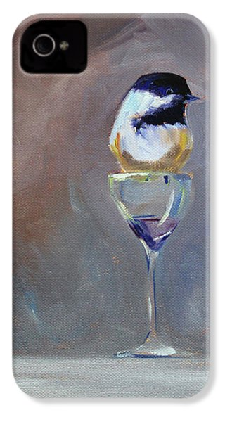 Chickadee Wine IPhone 4s Case by Nancy Merkle