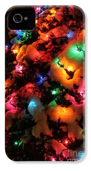 Christmas Lights Coldplay IPhone 4s Case by Wayne Moran