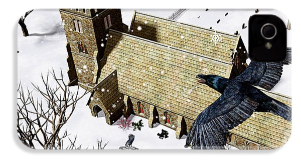 Church Ravens IPhone 4s Case by Peter J Sucy